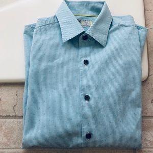 Boys, Size 8, C2 by Calibrate, Blue Cotton Oxford